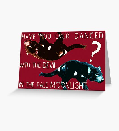 Dancing With the Devil Greeting Card
