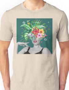 portriat floral Unisex T-Shirt