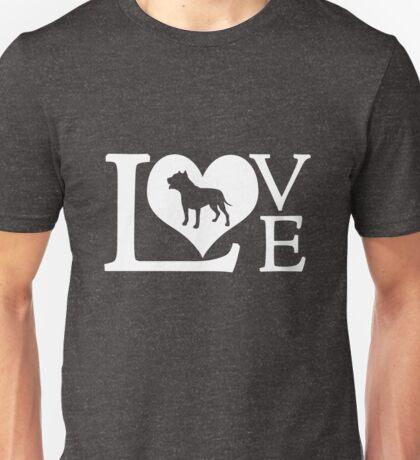 Love Pitbull Heart Owner Dog Lover Novelty Graphic Unisex T-Shirt