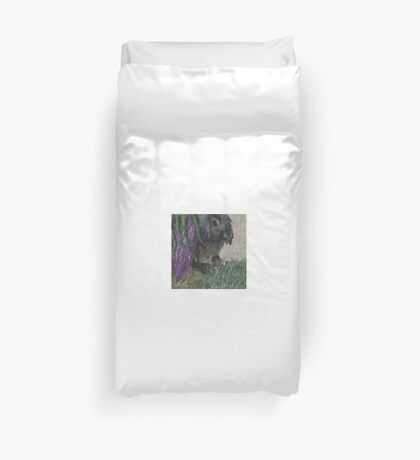 Lop Eared Rabbit Painting Duvet Cover