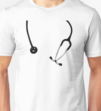 Funny Doctor Instrument Nurse Stethoscope Print Unisex T-Shirt