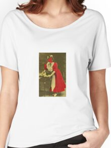 Woman in Red. Women's Relaxed Fit T-Shirt
