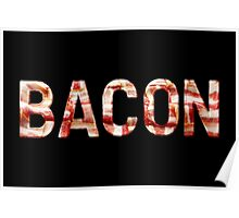 Bacon - Glass Lettering - Woven Strips Photograph Poster