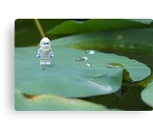 Yeti on a Lily pad Canvas Print