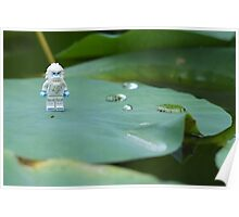 Yeti on a Lily pad Poster