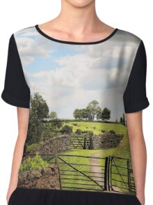 English Country Landscapes 5 Chiffon Top