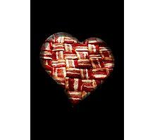 Bacon - Heart - Woven Strips Photographic Print