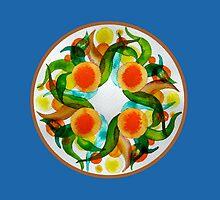 Oranges & Lemons - blue by JoellenLily