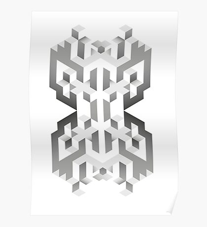 Isometric Abstract Cubes (case, shirt, posters) Poster