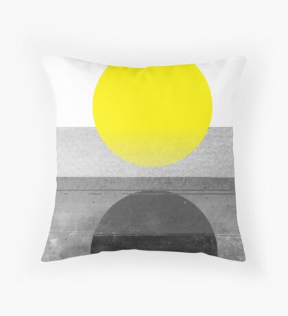 Yellow #abstract  Throw Pillow
