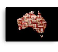 Australia - Australian Bacon Map - Woven Strips Canvas Print