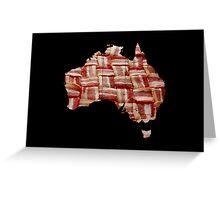 Australia - Australian Bacon Map - Woven Strips Greeting Card