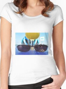 You ride, you think, you drink.... Women's Fitted Scoop T-Shirt