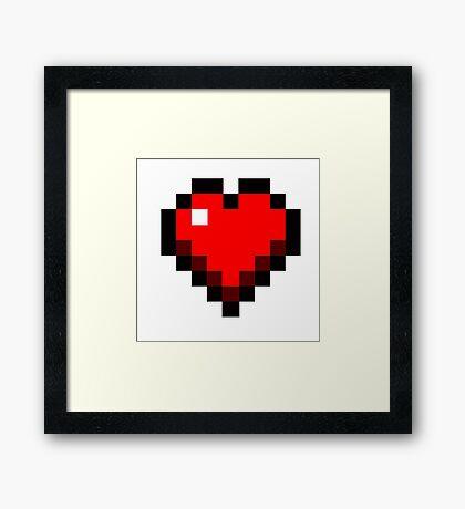 Minecraft heart Framed Print