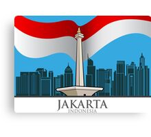 The capital city of Jakarta Canvas Print