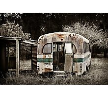 """ The Old Bus ""  #01 Photographic Print"