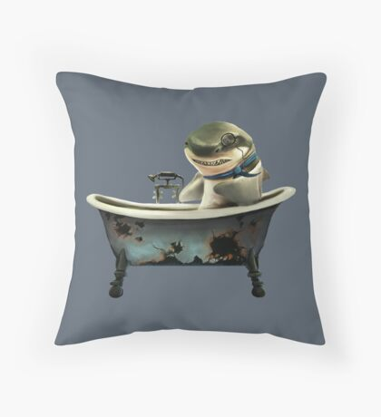 Shark Tub Throw Pillow