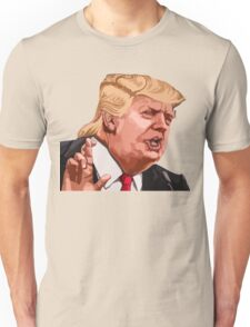 Donald Trump cartoon toon drawing funny crazy election Unisex T-Shirt