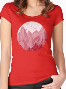 Sunset Mountain ! Women's Fitted Scoop T-Shirt