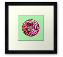 Infinite Heart - green Framed Print