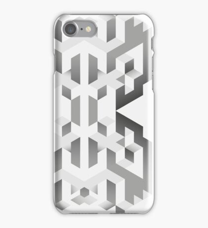 Isometric Abstract Cubes (case, shirt, posters) iPhone Case/Skin