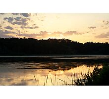 Sunset Reflection on Pond Photographic Print