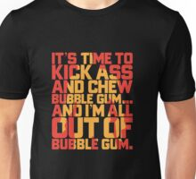 Kick Ass & Chew Bubble Gum Unisex T-Shirt