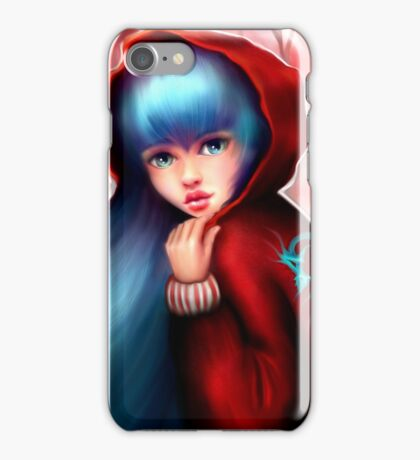 Red Riding Hood - Skater Girl in Forest iPhone Case/Skin