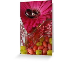 Jelly Beans and Rings Greeting Card