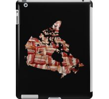 Canada - Canadian Bacon Map - Woven Strips iPad Case/Skin
