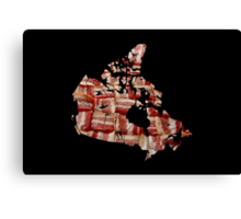 Canada - Canadian Bacon Map - Woven Strips Canvas Print