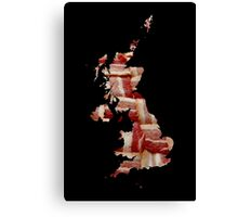 United Kingdom - British Bacon Map - Woven Strips Canvas Print