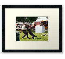 trained to attack  Framed Print