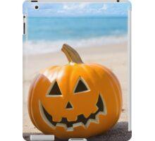 Halloween pumpkin on the beach iPad Case/Skin
