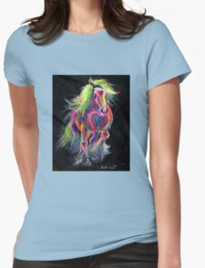 Queen Of Hearts Pony Womens Fitted T-Shirt
