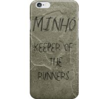 The Maze Runner - Minho Carving  iPhone Case/Skin