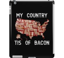 My Country Tis Of Bacon - USA - American Bacon Map iPad Case/Skin
