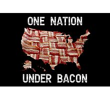 One Nation Under Bacon - USA - American Bacon Map Photographic Print