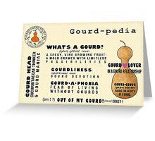 IDGS Gourd-pedia Note Cards-Design 2 Greeting Card