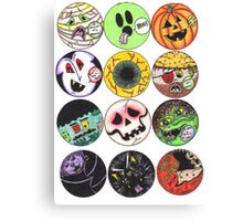 Halloween Ghouls Canvas Print