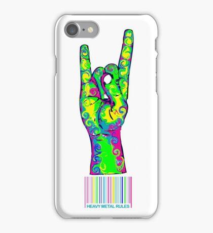BARCODE HEAVY METAL HORNS iPhone Case/Skin
