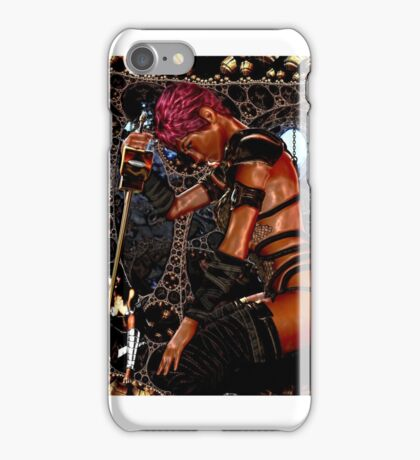 woman with sword iPhone Case/Skin