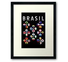 Brasil - World Football or Soccer - 2014 Groups - Brazil Framed Print