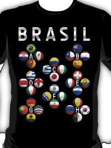 Brasil - World Football or Soccer - 2014 Groups - Brazil T-Shirt