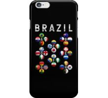 Brazil - World Football or Soccer - 2014 Groups - Brasil iPhone Case/Skin