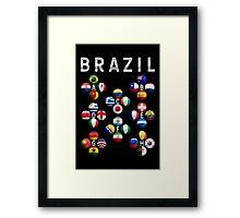 Brazil - World Football or Soccer - 2014 Groups - Brasil Framed Print
