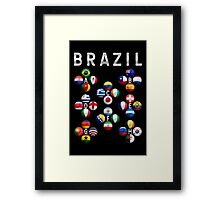 Brazil - World Football or Soccer - 2014 Groups - Brasil Framed Print
