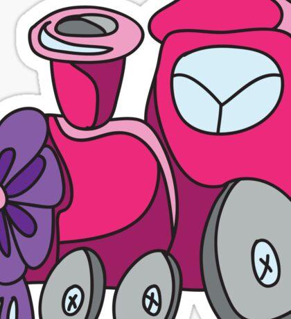 Little toy train Sticker