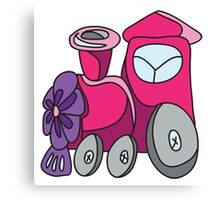 Little toy train Canvas Print