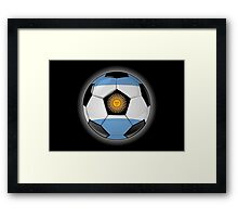 Argentina - Argentine Flag - Football or Soccer Framed Print